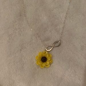 Sunflower Infinity Necklace